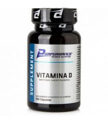 Vitamina D Framboesa (100 caps) - Performance Nutrition