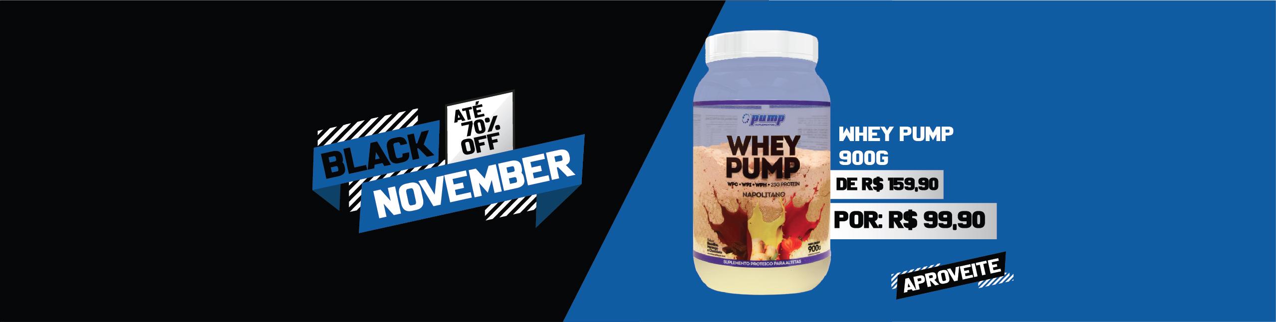 Whey Pump - R$159,90 por R$99,90