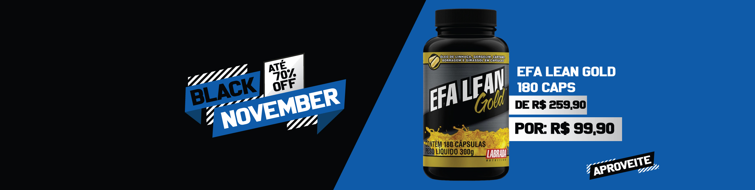 EFA Lean Gold - R$259,90 por R$99,90